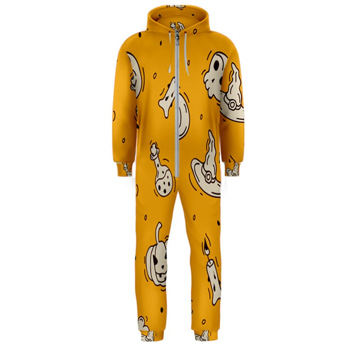 Funny Halloween Party Pattern Hooded Jumpsuit (Men)