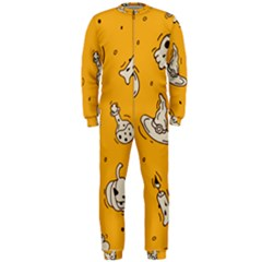 Funny Halloween Party Pattern Onepiece Jumpsuit (men)