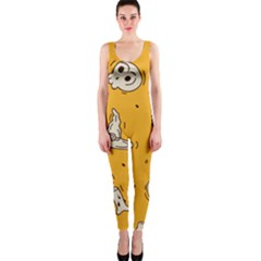 Funny Halloween Party Pattern One Piece Catsuit