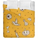 Funny Halloween Party Pattern Duvet Cover Double Side (California King Size) View1