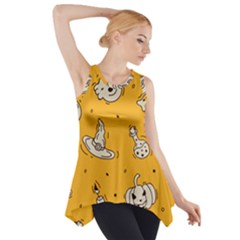 Funny Halloween Party Pattern Side Drop Tank Tunic