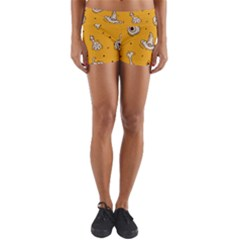 Funny Halloween Party Pattern Yoga Shorts