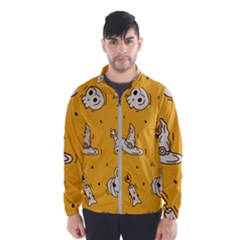 Funny Halloween Party Pattern Windbreaker (men)