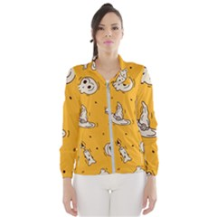 Funny Halloween Party Pattern Windbreaker (women)