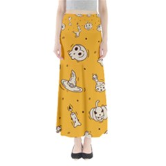Funny Halloween Party Pattern Full Length Maxi Skirt