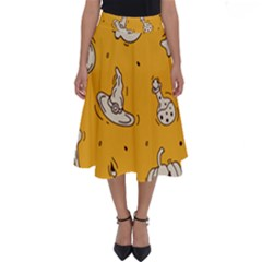 Funny Halloween Party Pattern Perfect Length Midi Skirt
