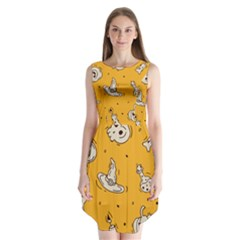 Funny Halloween Party Pattern Sleeveless Chiffon Dress