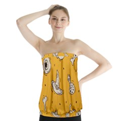 Funny Halloween Party Pattern Strapless Top