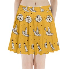 Funny Halloween Party Pattern Pleated Mini Skirt