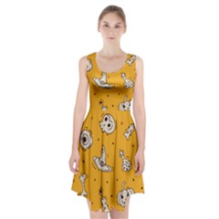Funny Halloween Party Pattern Racerback Midi Dress