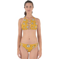 Funny Halloween Party Pattern Perfectly Cut Out Bikini Set