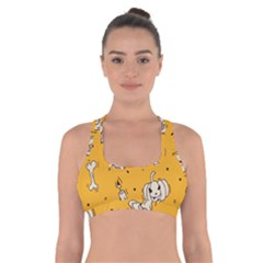 Funny Halloween Party Pattern Cross Back Sports Bra
