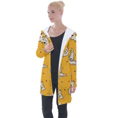 Funny Halloween Party Pattern Longline Hooded Cardigan