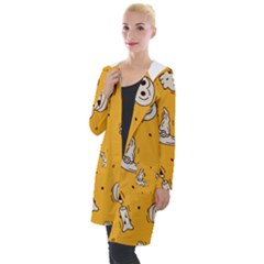 Funny Halloween Party Pattern Hooded Pocket Cardigan
