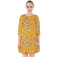 Funny Halloween Party Pattern Smock Dress