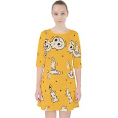 Funny Halloween Party Pattern Pocket Dress