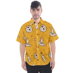 Funny Halloween Party Pattern Men s Short Sleeve Shirt