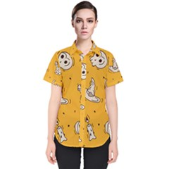 Funny Halloween Party Pattern Women s Short Sleeve Shirt