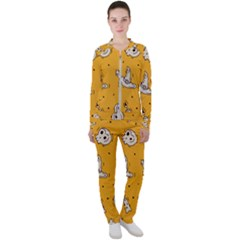 Funny Halloween Party Pattern Casual Jacket And Pants Set