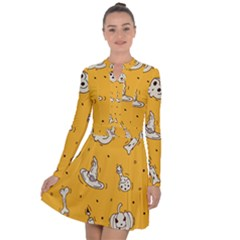 Funny Halloween Party Pattern Long Sleeve Panel Dress