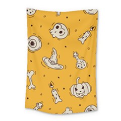 Funny Halloween Party Pattern Small Tapestry