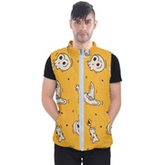 Funny Halloween Party Pattern Men s Puffer Vest