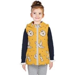 Funny Halloween Party Pattern Kid s Hooded Puffer Vest