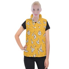 Funny Halloween Party Pattern Women s Button Up Vest