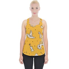 Funny Halloween Party Pattern Piece Up Tank Top