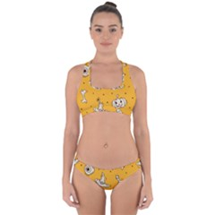 Funny Halloween Party Pattern Cross Back Hipster Bikini Set