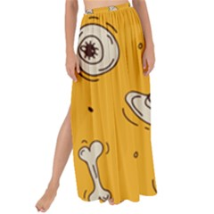 Funny Halloween Party Pattern Maxi Chiffon Tie Up Sarong