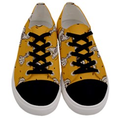 Funny Halloween Party Pattern Men s Low Top Canvas Sneakers