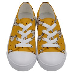 Funny Halloween Party Pattern Kids  Low Top Canvas Sneakers