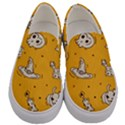 Funny Halloween Party Pattern Men s Canvas Slip Ons View1