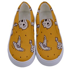 Funny Halloween Party Pattern Kids  Canvas Slip Ons