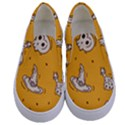 Funny Halloween Party Pattern Kids  Canvas Slip Ons View1