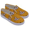 Funny Halloween Party Pattern Kids  Canvas Slip Ons View3
