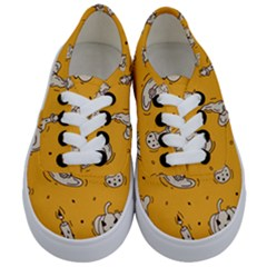 Funny Halloween Party Pattern Kids  Classic Low Top Sneakers