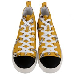 Funny Halloween Party Pattern Men s Mid Top Canvas Sneakers
