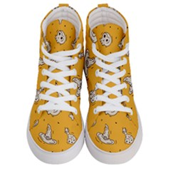 Funny Halloween Party Pattern Women s Hi Top Skate Sneakers