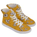 Funny Halloween Party Pattern Women s Hi-Top Skate Sneakers View3