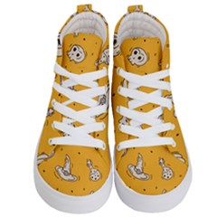 Funny Halloween Party Pattern Kid s Hi Top Skate Sneakers