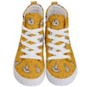 Funny Halloween Party Pattern Kid s Hi-Top Skate Sneakers View1