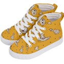 Funny Halloween Party Pattern Kid s Hi-Top Skate Sneakers View2