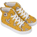 Funny Halloween Party Pattern Kid s Hi-Top Skate Sneakers View3