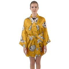 Funny Halloween Party Pattern Long Sleeve Kimono Robe