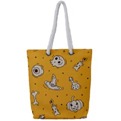 Funny Halloween Party Pattern Full Print Rope Handle Tote (small)