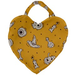 Funny Halloween Party Pattern Giant Heart Shaped Tote