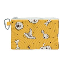 Funny Halloween Party Pattern Canvas Cosmetic Bag (medium) by HalloweenParty