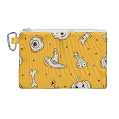 Funny Halloween Party Pattern Canvas Cosmetic Bag (large) by HalloweenParty